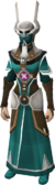 Ancient ceremonial robes equipped