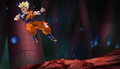 PTETS - Goku knocked back by punch
