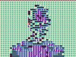 Glitch person