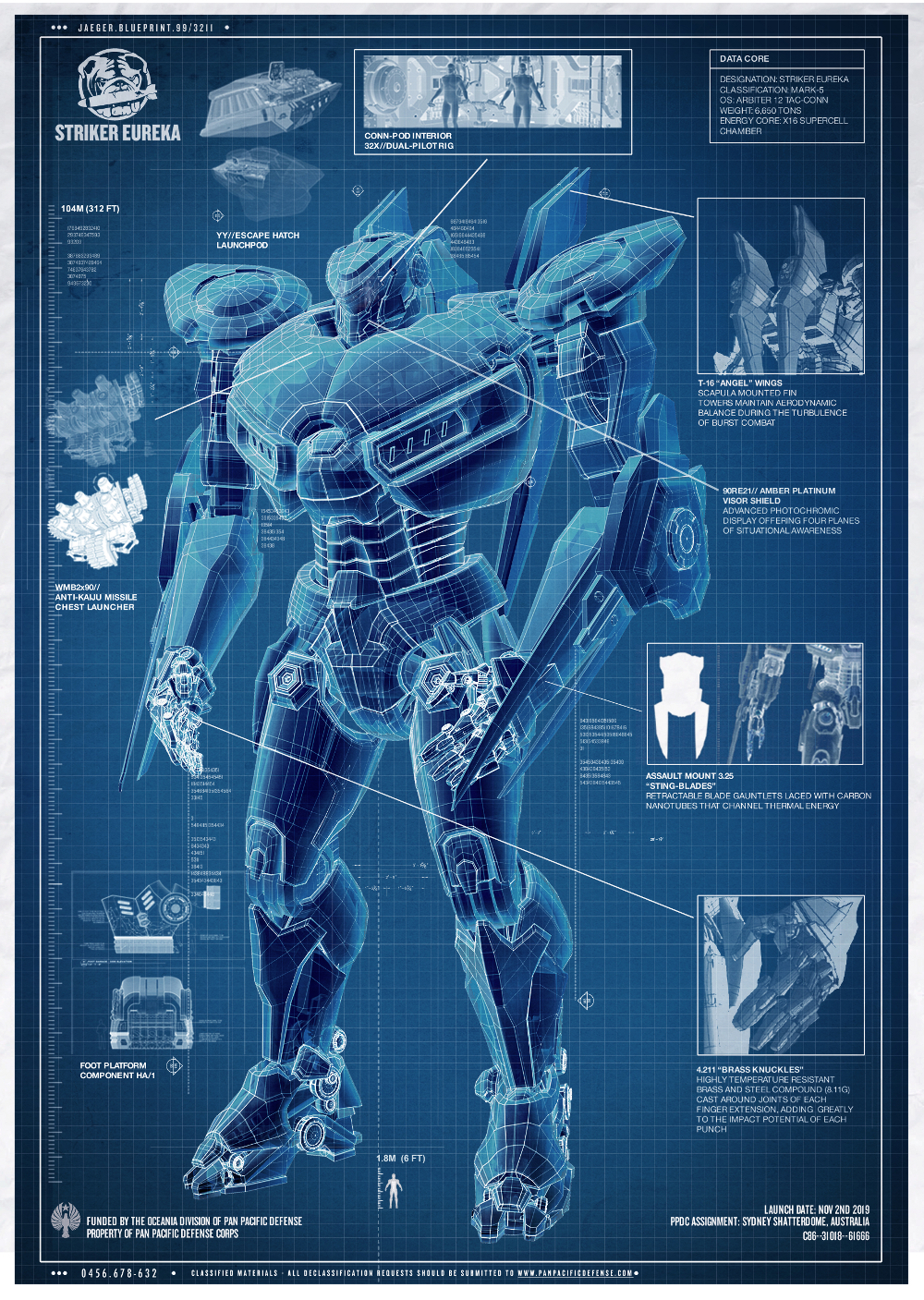 Striker eureka jaeger pacific rim wiki fandom powered by wikia striker eureka blueprints malvernweather