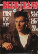 Blue Jeans Magazine 16 March 1985 No. 426 Duran Duran Martin Kemp