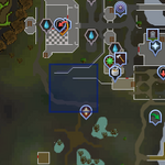 Sinkholes south of lumbridge map