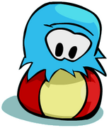 Puffle with big ball