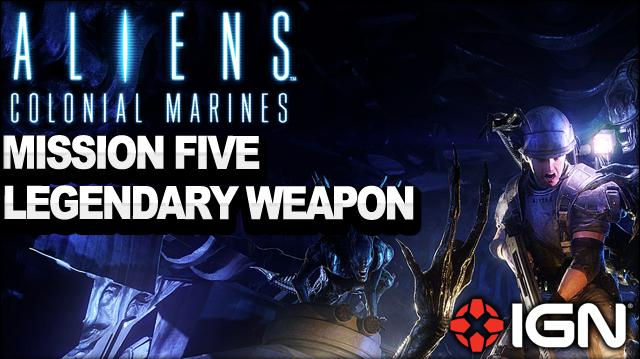 Aliens Colonial Marines - Hudson's Pulse Rife Legendary Weapon - Mission 5 The Raven