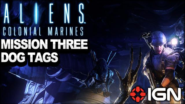 Aliens Colonial Marines - Mission 3 Dog Tags - Sulaco Falls - Walkthrough