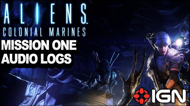 Aliens Colonial Marines - Mission 1 Audio Logs - Distress - Walkthrough