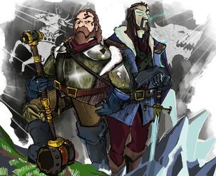 Robert baratheon and eddard stark by murushierago101
