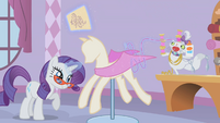 Rarity and Opal sewing S1E14