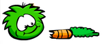 Green Puffle Eating Carrot