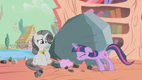 Confused grey Rarity angry Twilight S2E2