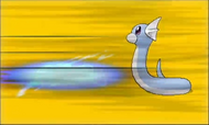 Dratini recibiendo ataque en XY