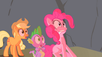 Spike Applejack &amp; Pinkie Scared S1E15