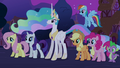Main 5, Spike, and Celestia S03E13.png