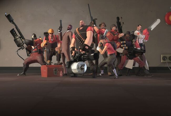 Team Fortress 2 Group Photo