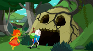 S5 e12 Finn and Flame Princess running into a dungeon
