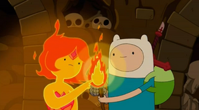S5 e12 Flame Princess lighting the torch