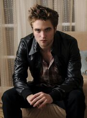 Robert Pattinson in leather