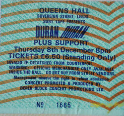 QUEENS HALL IN LEEDS THURSDAY 8th DECEMBER wikipedia duran duran 1983