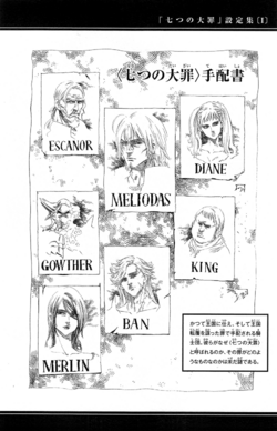 The Seven Deadly Sins Wanted Posters