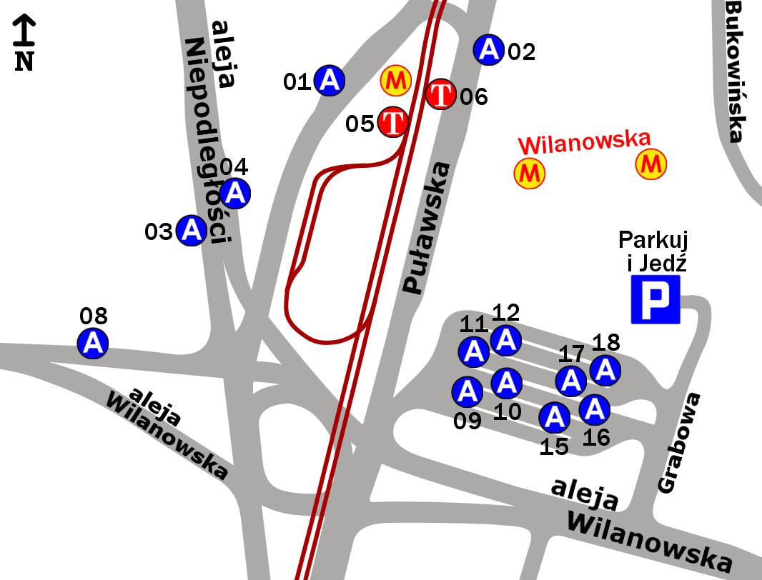 Warszawa Dworzec Autobusowy Metro Wilanowska S 14