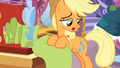 Applejack having Rarity's cutie mark S3E13.png