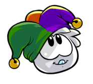 White Puffle With Hat