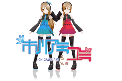 Lat mmd ichigawa ami and yumi by mania211-d5kdmd7