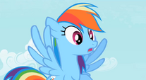 Amazed Rainbow Dash S2E8