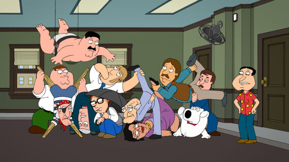 Family Guy Season 11 Episode 16 12 and a Half Angry Men