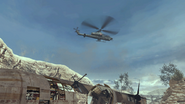 Attack Helicopter flying over Afghan MW2