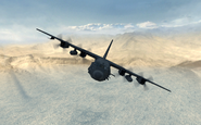 AC-130 front view Dome MW3