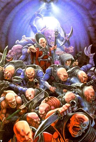 Genestealer cultists from the Warhammer 40k Wiki