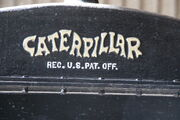 Caterpillar logo on radiator header tank - IMG 6052