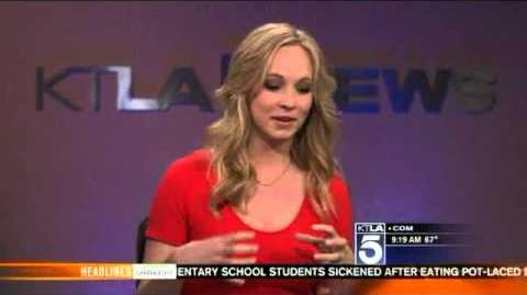 Candice Accola KTLA interview talks about Kelly Clarkson and Vampire Diaries