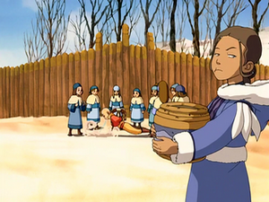 Katara dismayed by Aang