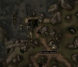TES3 Morrowind - Ald Velothi - Ald Velothi Outpost - location map