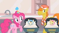 Pinkie Pie carefully checking S2E13