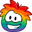 Emoticons Rainbow Puffle