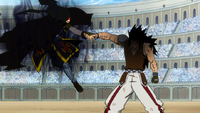 Gajeel catches Rogue