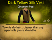 Dark Yellow Silk Vest