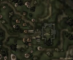 TES3 Morrowind - Pelagiad - map
