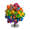 Rainbow Magnolia Tree-icon