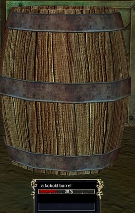 A kobold barrel