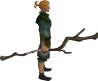 Slayer&#39;s staff equipped