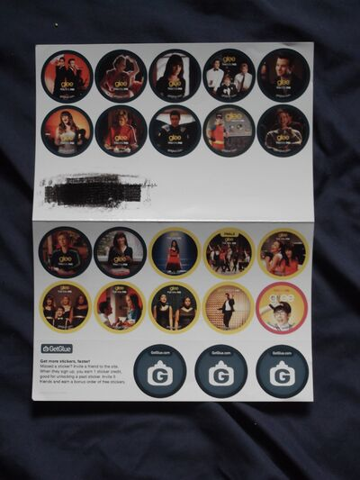 My Glee GetGlue Stickers!