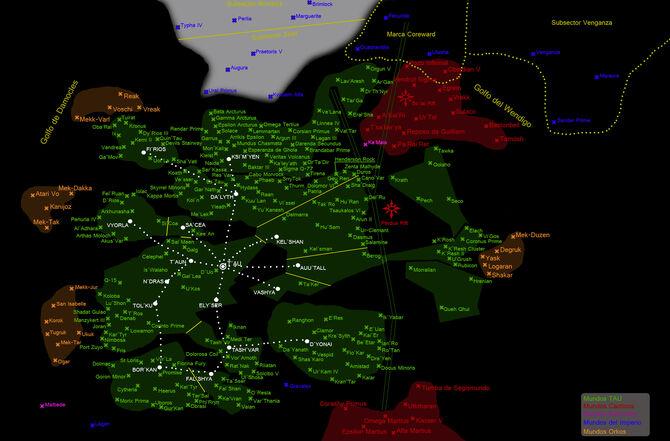 Mapa Imperio Tau galaxia 40k warhammer wikihammer
