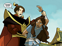 Zuko stopping Katara