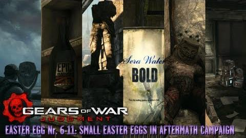 Gears of War Judgment - Easter Eggs 6-11 - Small Easter Eggs in Aftermath Campaign