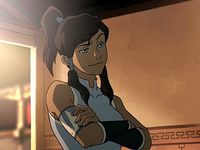 Korra looking smug