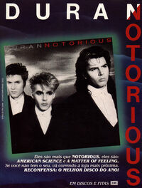 NOTORIOUS ADVERT DURAN DURAN 4